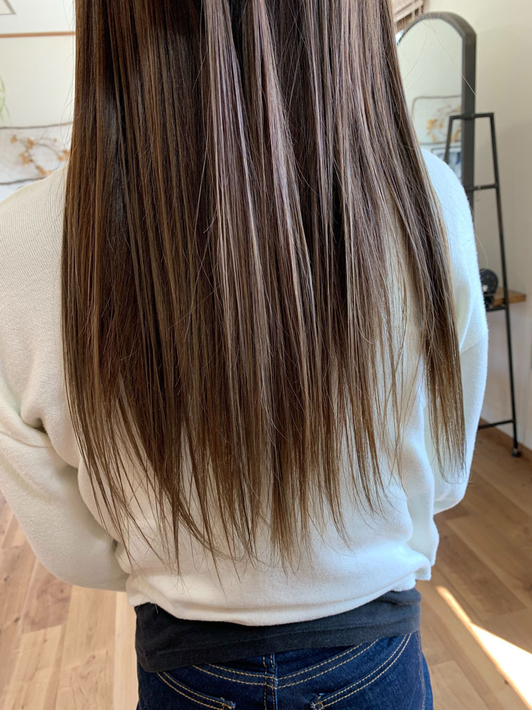 カット+透明感カラー+高濃度髪質改善